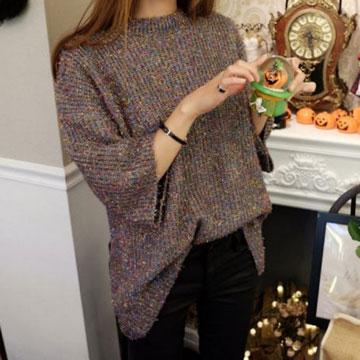 閃亮混色金蔥針織衫