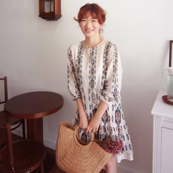 優雅氣息七分袖洋裝