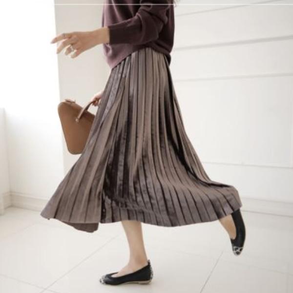 輕甜焦點柔和百褶裙
