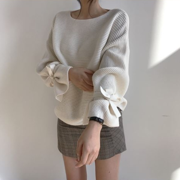 恬美袖口質感針織衫