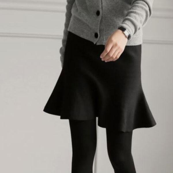 俏麗針織短版魚尾裙