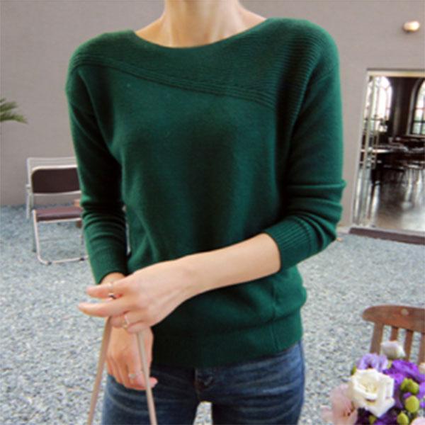 典雅氣質修身針織衫