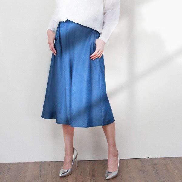 清新寬鬆牛仔褲裙