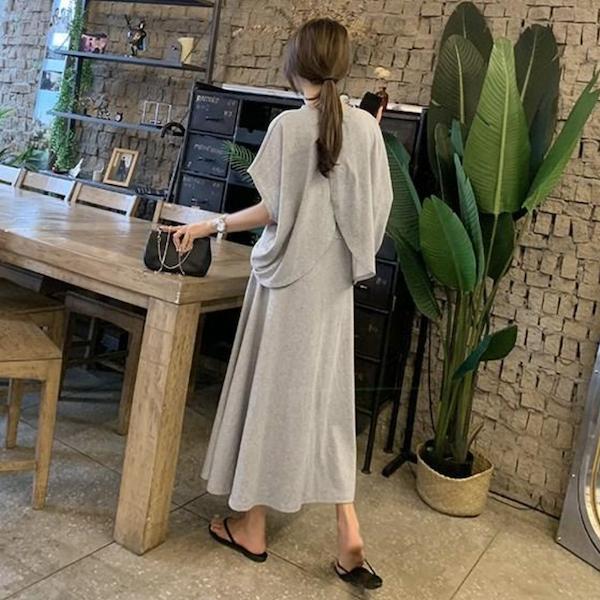 經典純色長裙套裝